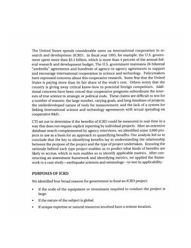 research and development report format