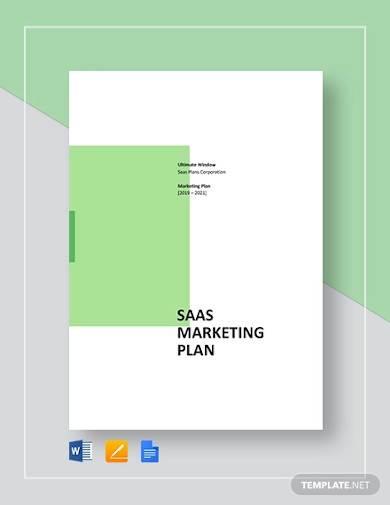 saas marketing plan sample