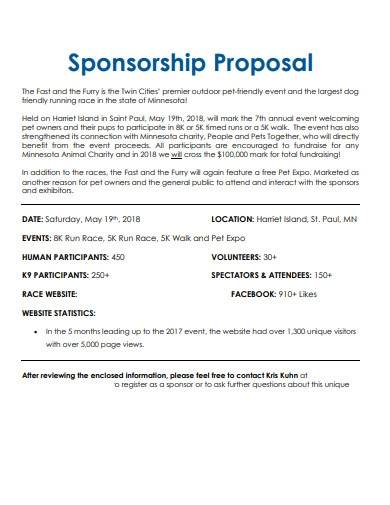 sample charity event sponsorship proposal
