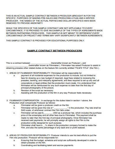 sample contract between producer