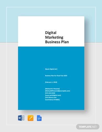 sample digital marketing business plan