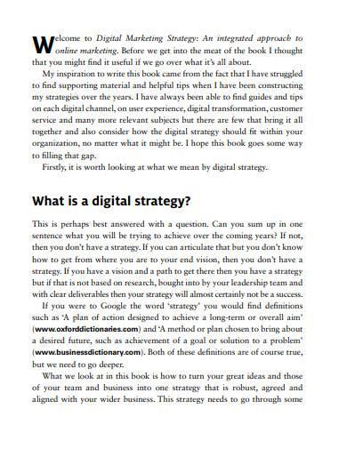 sample digital marketing strategy