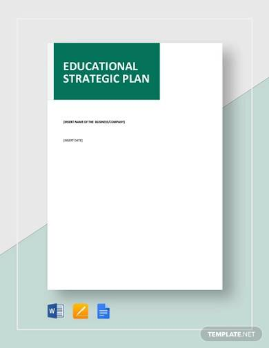 sample educational strategic plan
