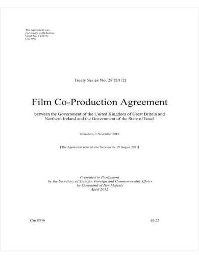 sample film co production agreement