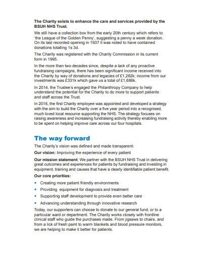 sample hospital charity annual report