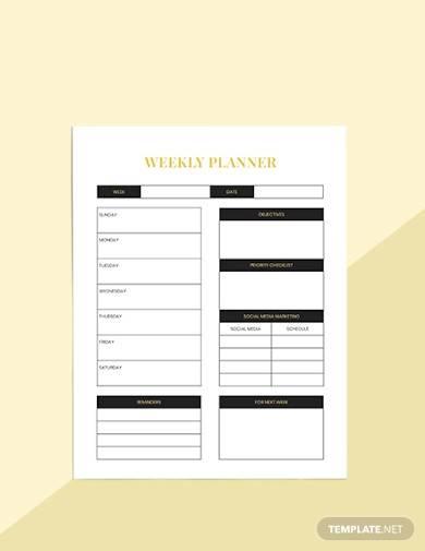 sample hotel marketing planner
