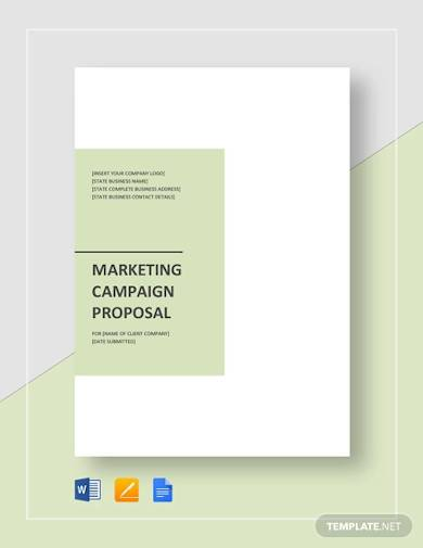 sample marketing campaign proposal