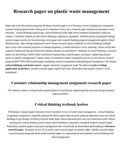 sample paper research management proposal