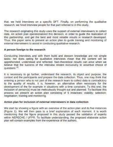 sample qualitative research action plan