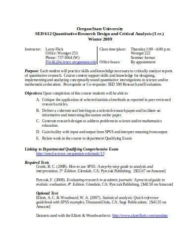 sample quantitative research design