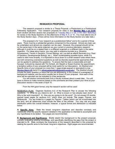 sample research proposal plan