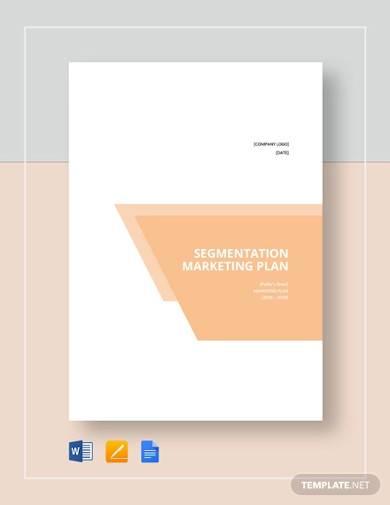 sample segmentation marketing plan
