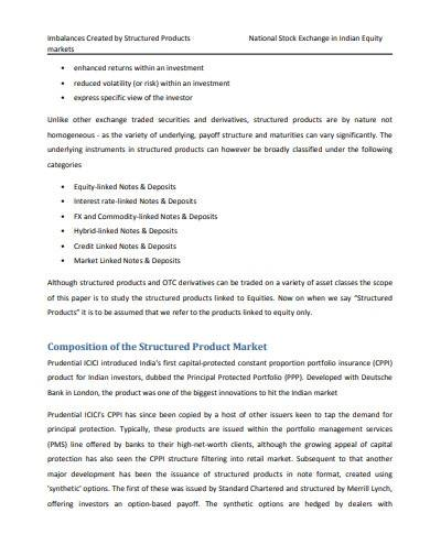 sample stock exchange research report