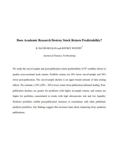 sample stock research report