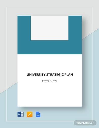 sample university strategic plan
