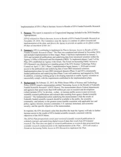 scientific research implementation plan