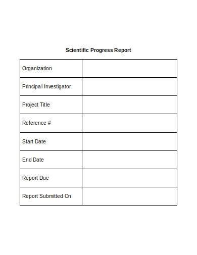 scientific research progress report