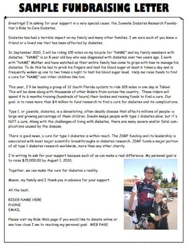 simple charity fundraising letter