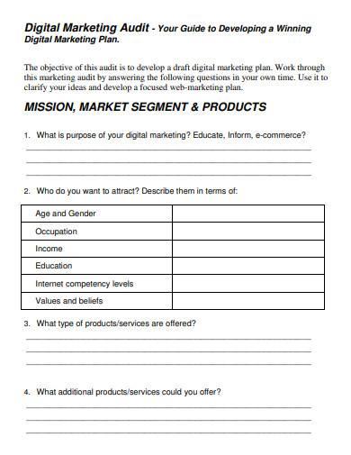 simple digital marketing plan