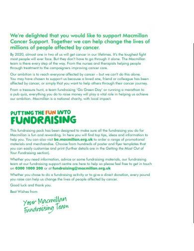 standard charity fundraising letter
