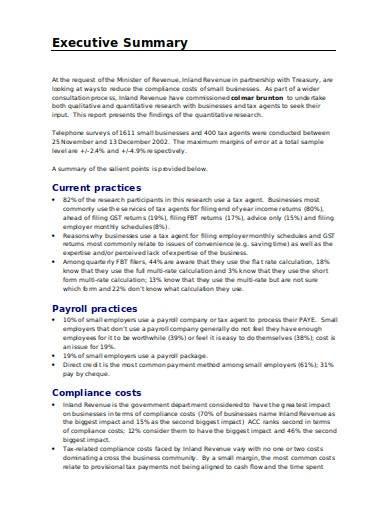 standard quantitative research report