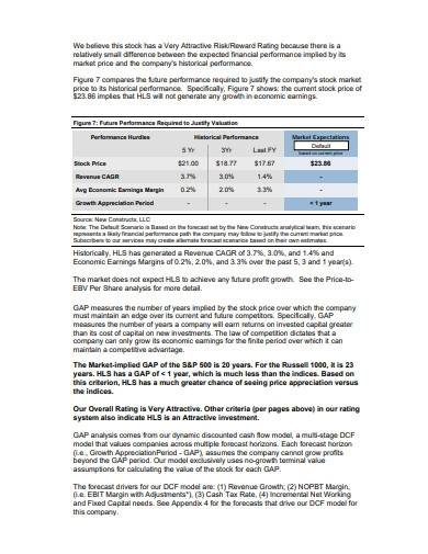 stock research report format