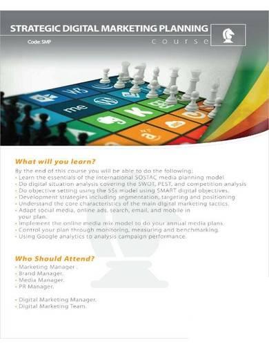 strategic digital marketing planning
