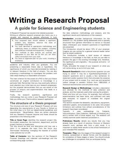 student scientific research proposal