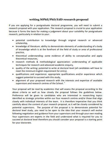 study scientific research proposal