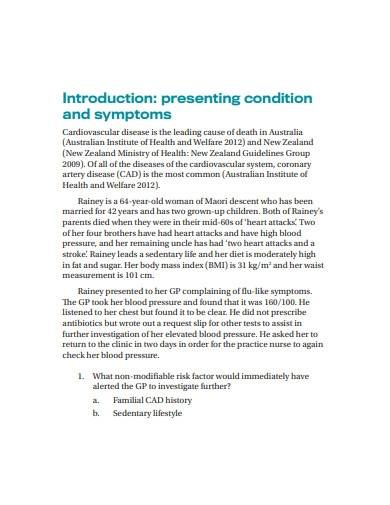 surgical nursing case study template