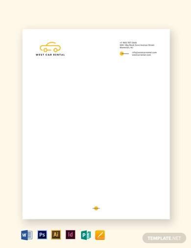 transport letterhead template