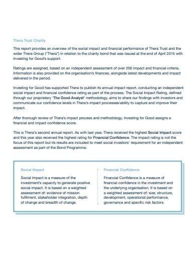 trust impact report sample