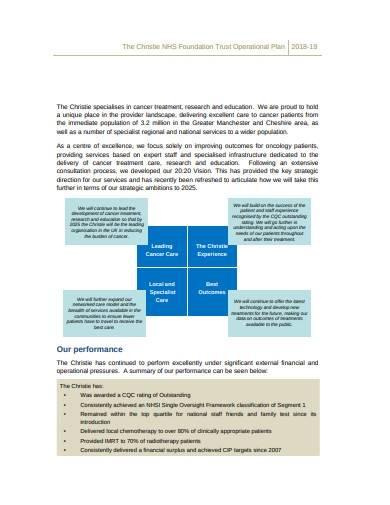 trust operational plan template