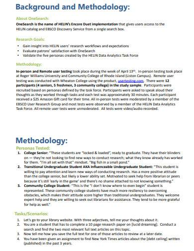 user research report template