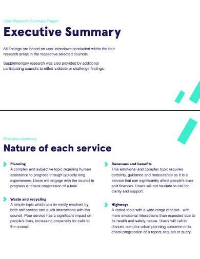 user research summary report