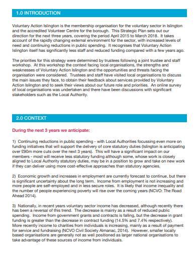 voluntary business strategic plan