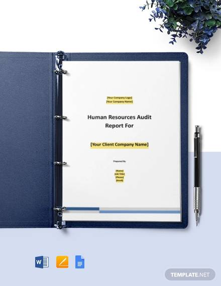workers compensation audit report template