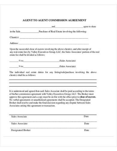 agent to agent commission agreement