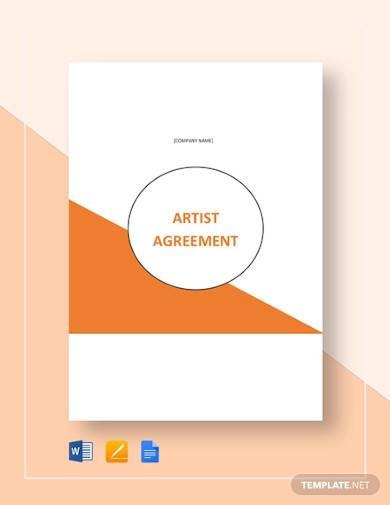 artist agreement template