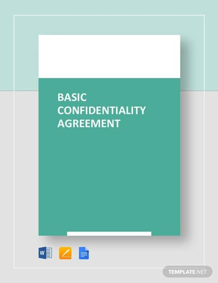basic confidentiality agreement template