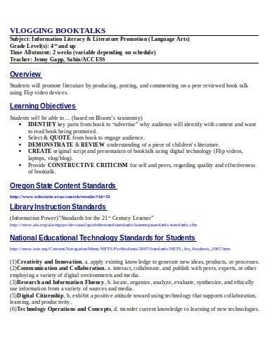 basic librarian lesson plan