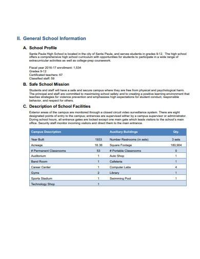 basic school safety plan template