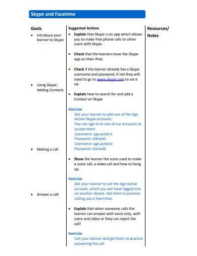 basic tutor lesson plan template