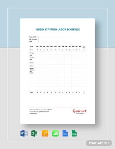 blind staffing labor schedule planner