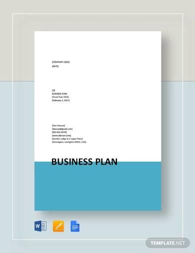 business plan format template
