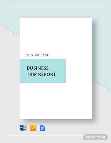 business trip report template