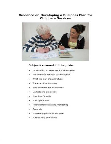childcare service business plan