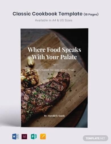 classic cookbook template