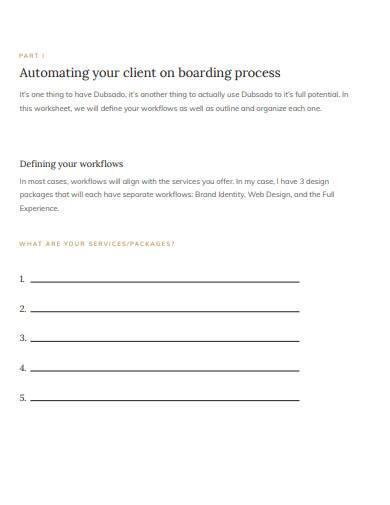 client onboarding checklist sample