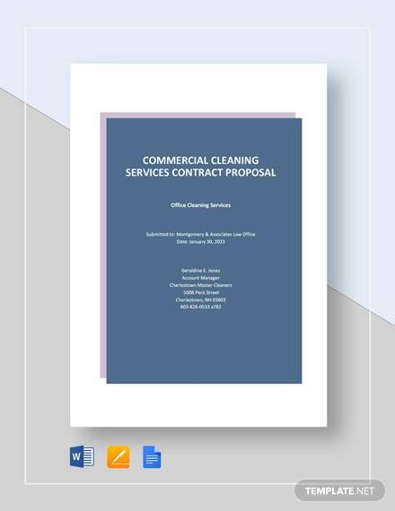 commercial cleaning services contract proposal